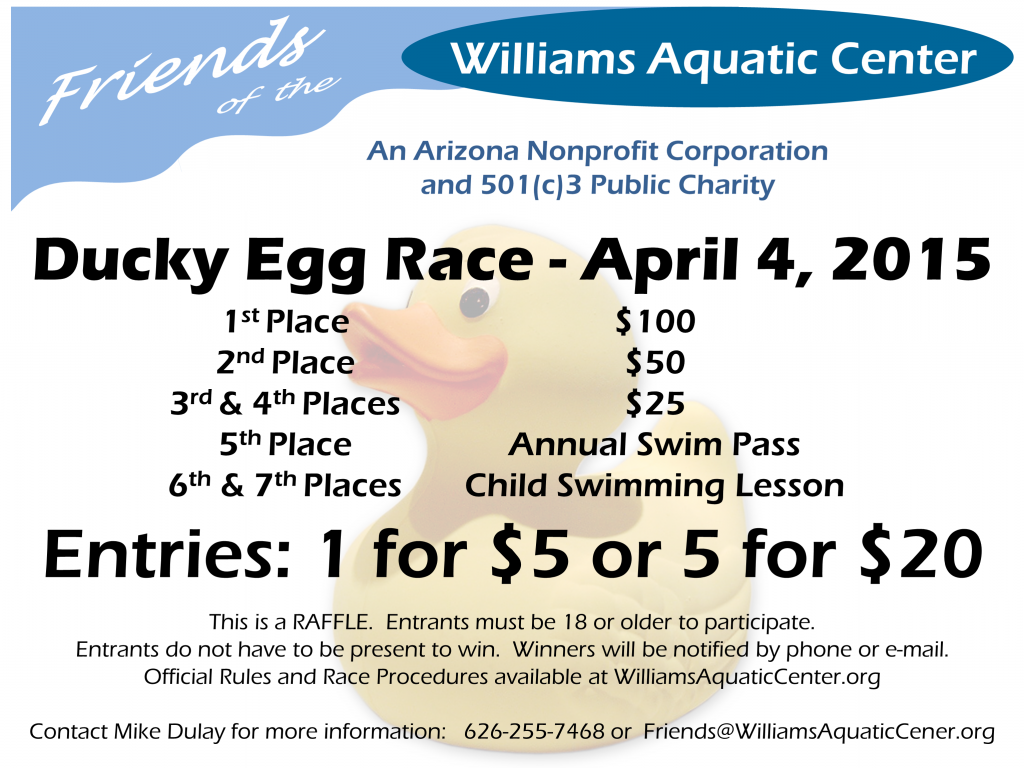 Ducky Egg Race - Ad